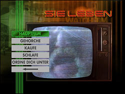 John Carpenters Sie leben (Menu-Screenshot 1)