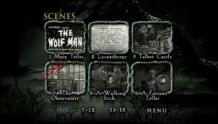 Wolf Man, The (Menu-Screenshot 2)